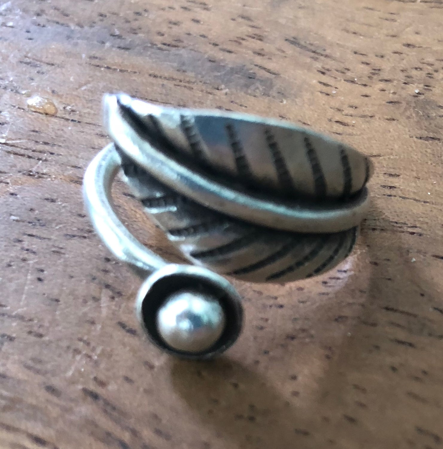 Handmade Sterling Silver Thai Hill Tribe Leaf Wrap Ring