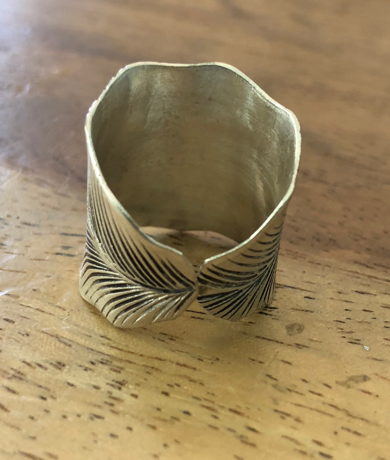 Handmade Sterling Silver Thai Hill Tribe Leaf Ring