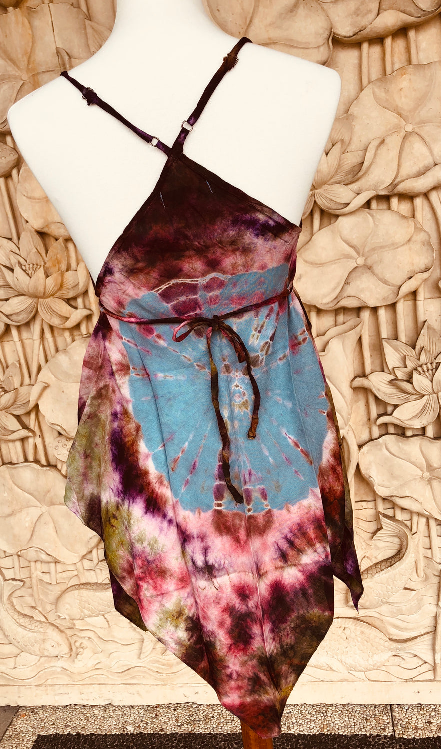 Tie Dyed Tank Top Jungle bottom rayon