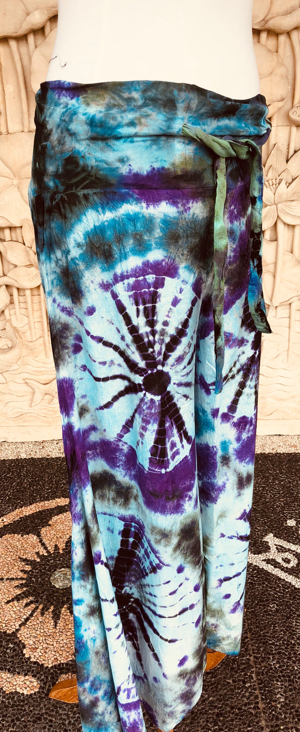 Drawstring Tie Dyed Meagan Pants wide leg