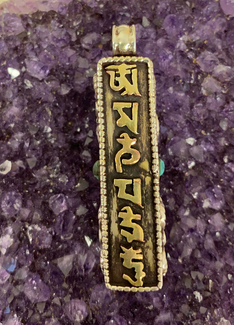 Sterling Silver Nepalese Prayer Box with Mantra -Opens!
