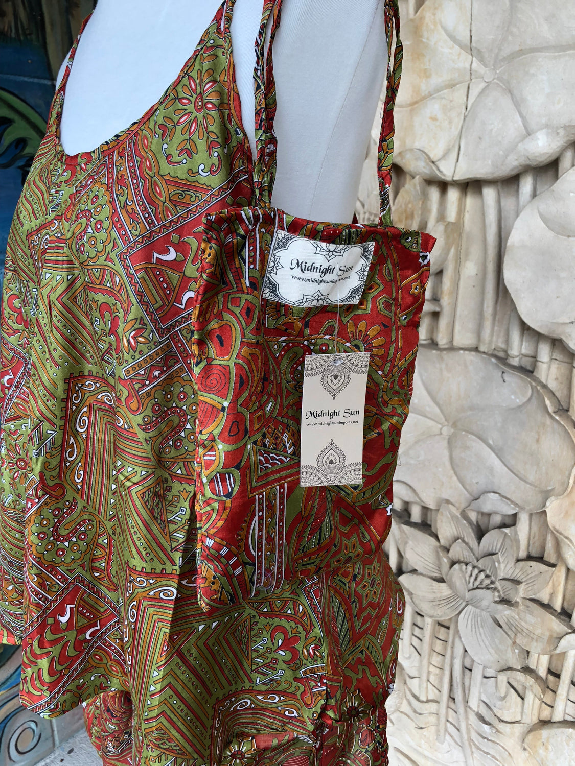 Silk Pajama Sets in Carry Bag