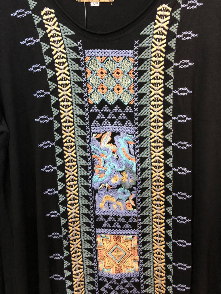 Fancy Embroidered Tunic knit longsleeve