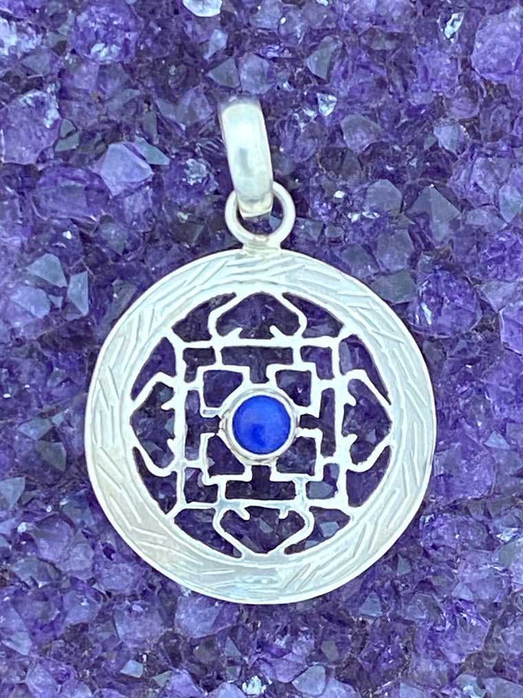 Sterling Silver Jayli Cut Mandala Pendants from Nepal - 5 stones available