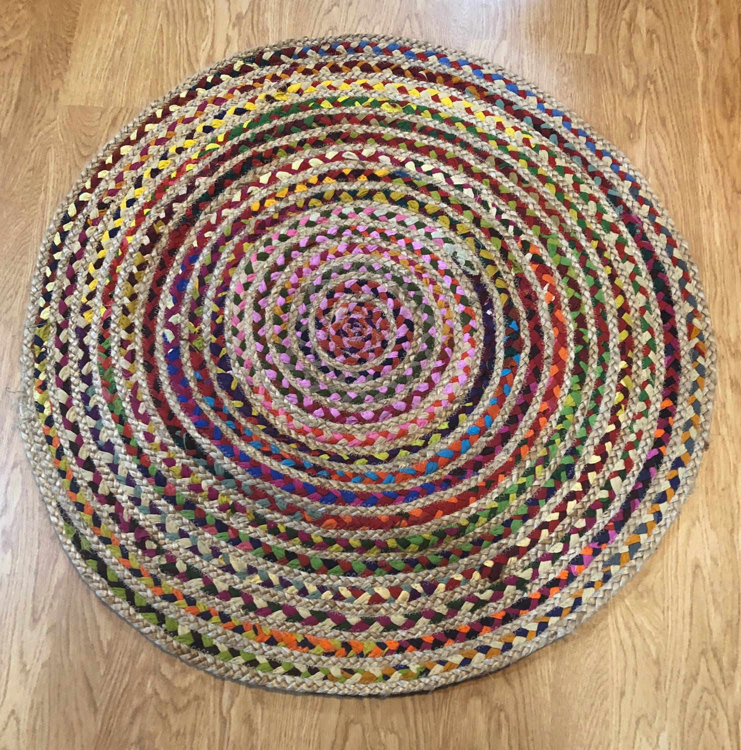 Recycled Fabric Rug 90cm 2 Styles