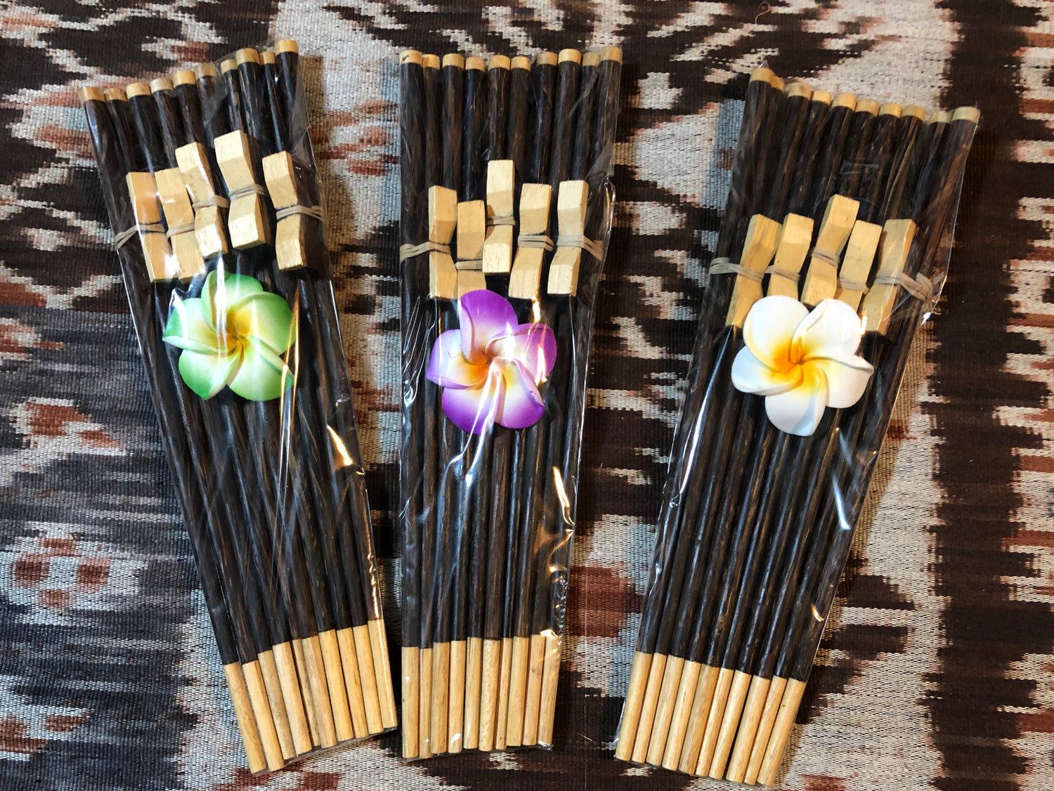 Coconot Wood and Crocodile wood 5 piece Chopstick Gift sets