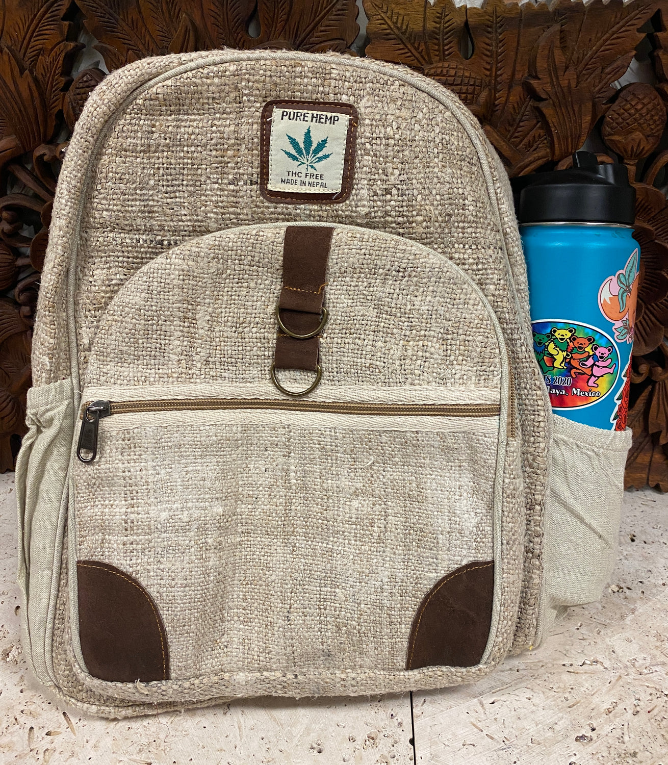 "100% Hemp Backpack 14.5"" x 11"" x 6"""