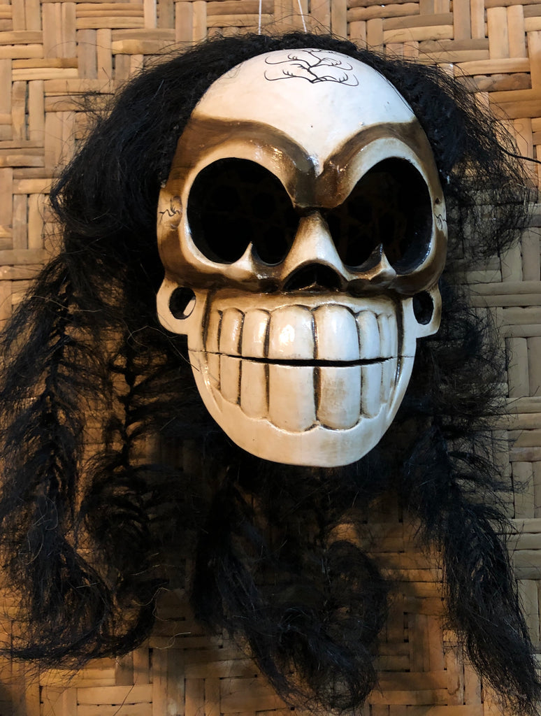Wearable Hand Carved & Painted Skeleton Masks