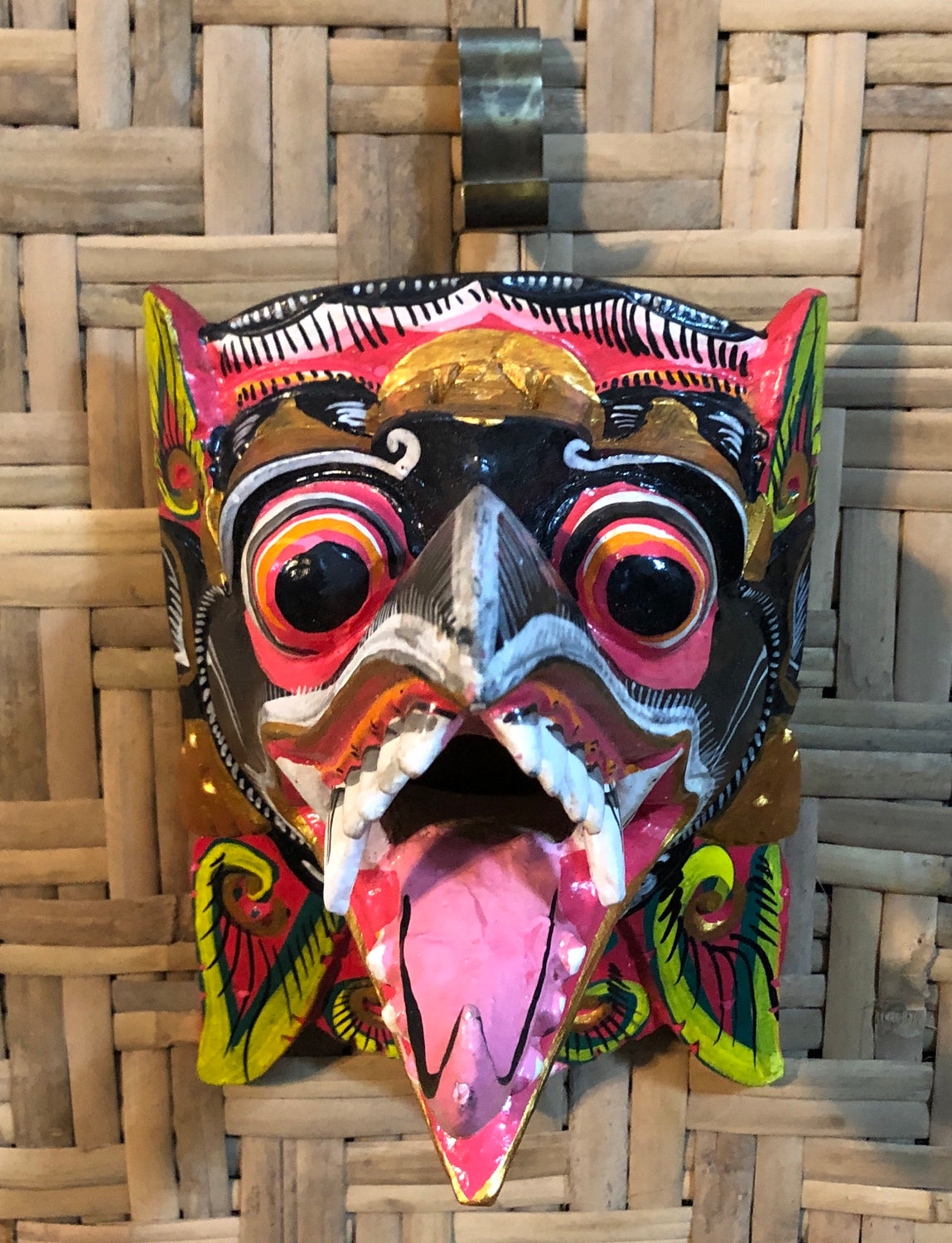 Hand Carved & Painted Garuda Masks Black