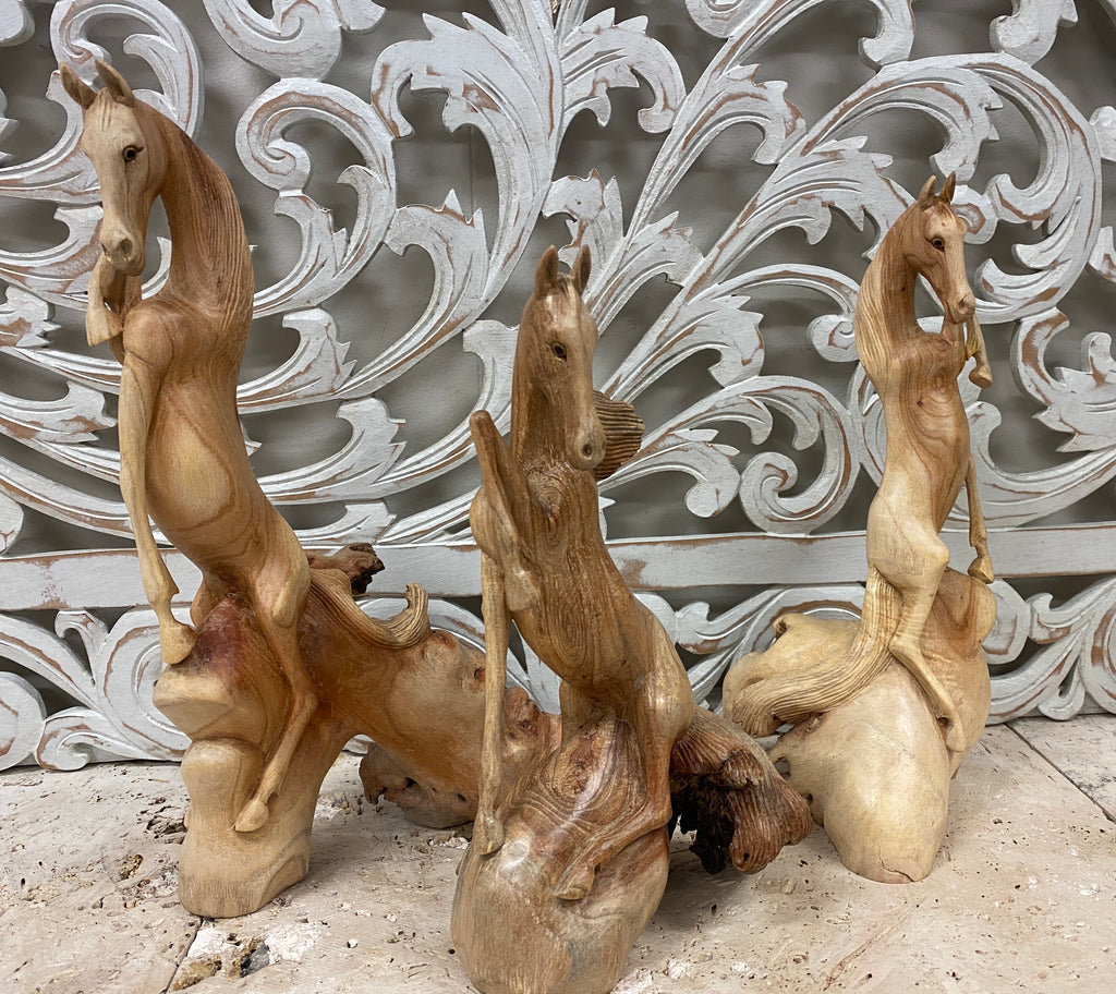 Parasite Wood Horse Carvings