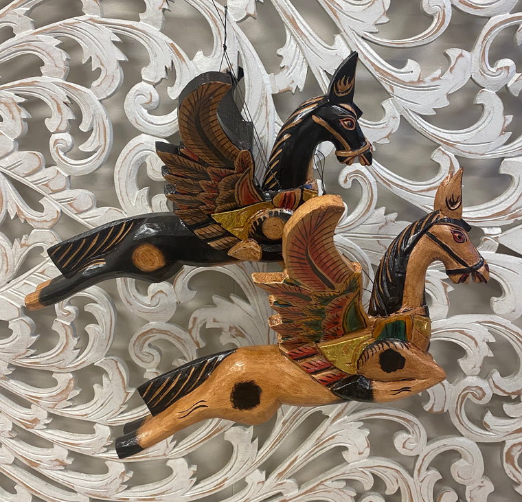 Hand Carved Flying Horse Spirit chasers - Available in 2 colors