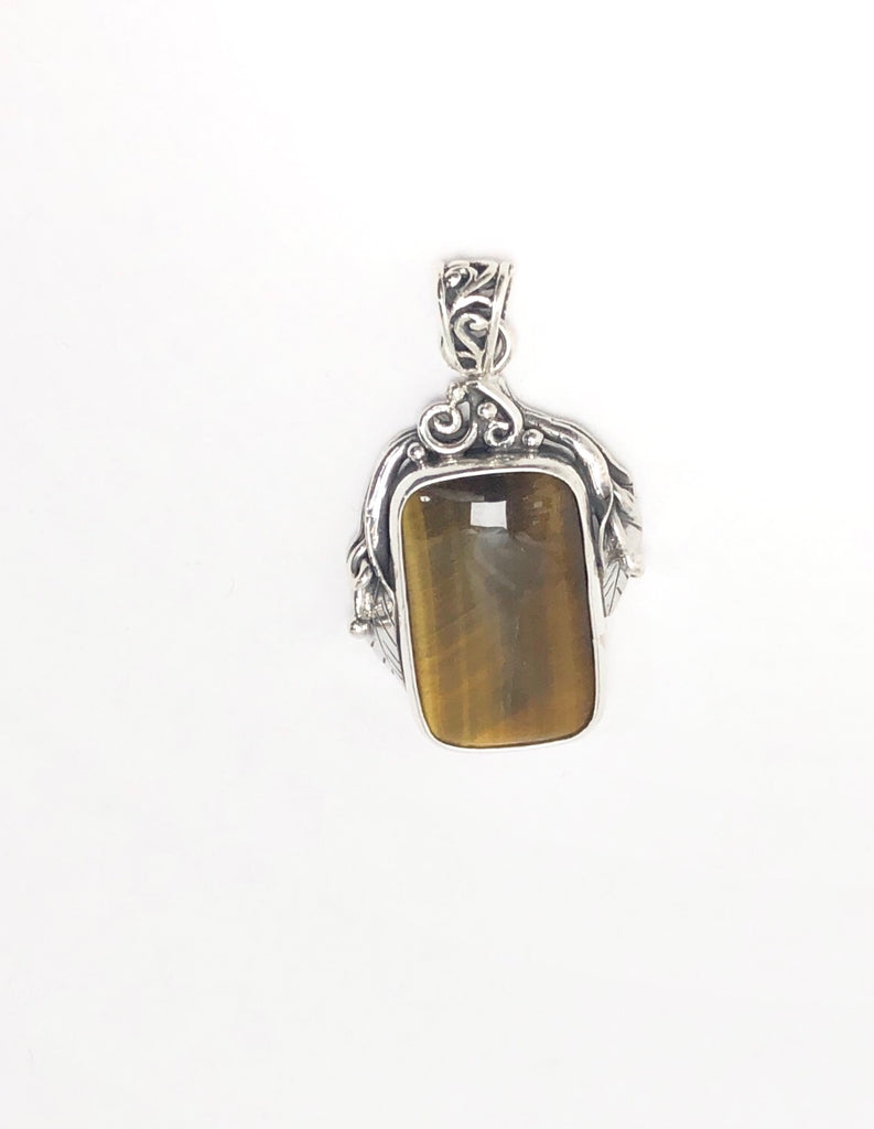 Handmade Polish Style Sterling Silver Pendants Available in 12 stones