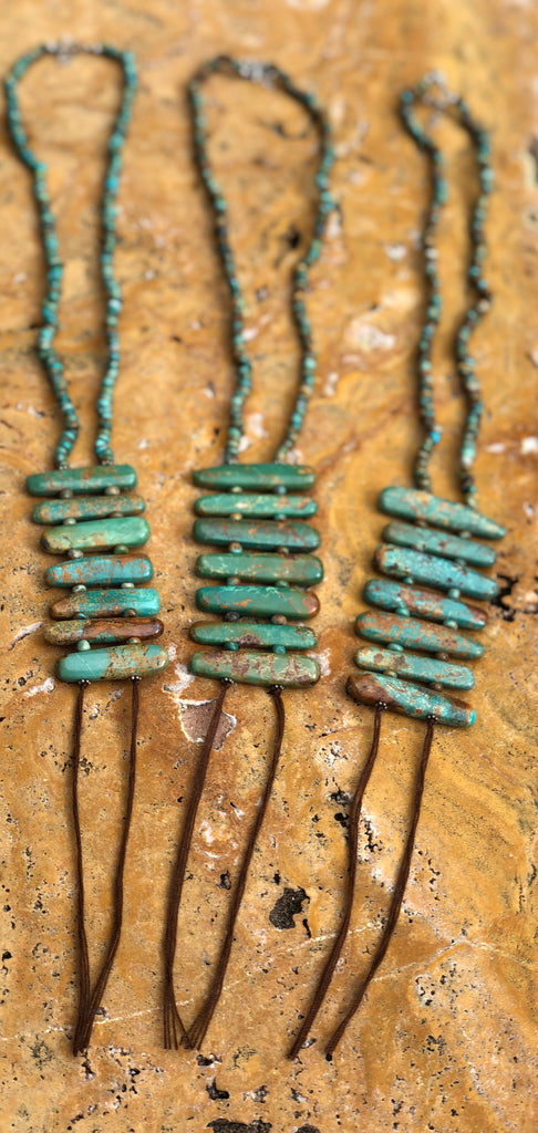 Beautiful Natural Turquoise Cairn Necklace