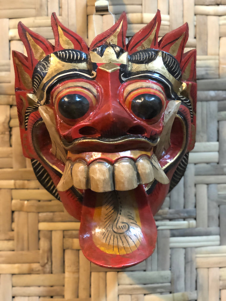 Hand Carved and Painted Barong Mask