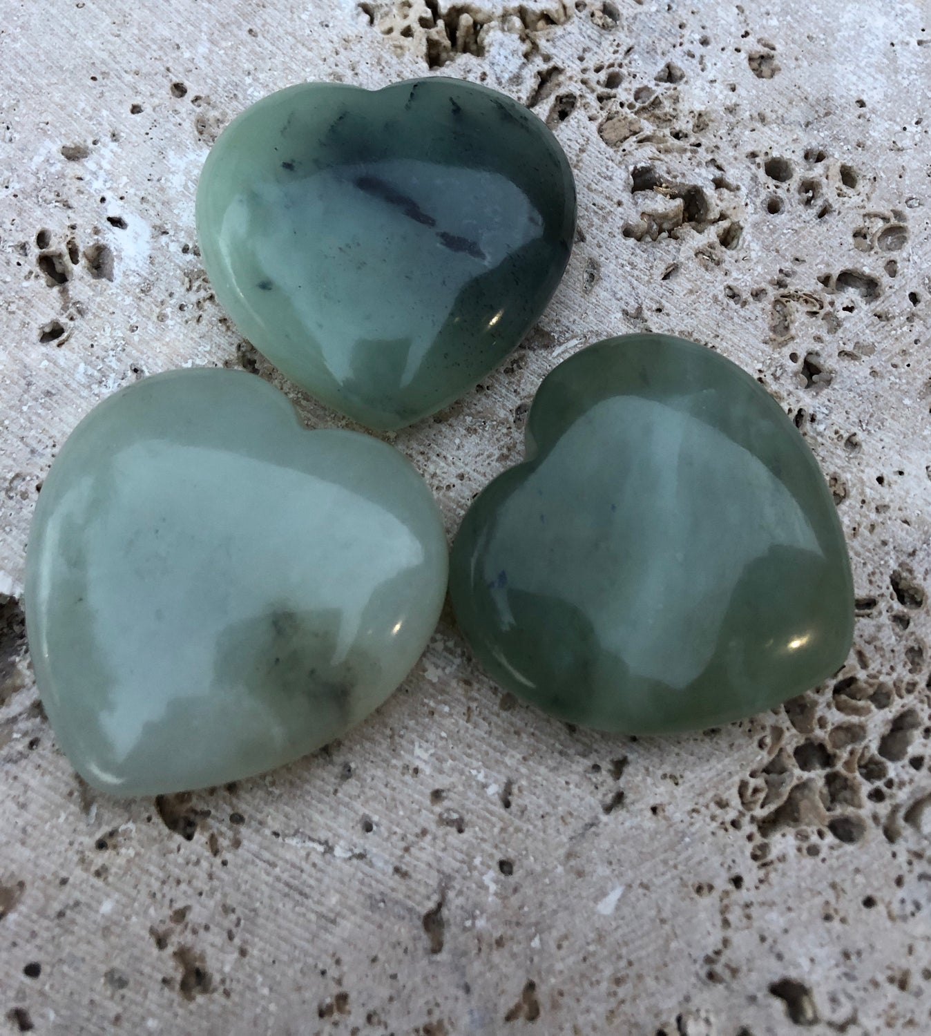 Large Jade Heart 50mm