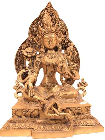 Beautiful Goddess Green Tara Statue