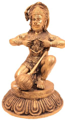 Detailed Hanuman Statue with Ram & Sita