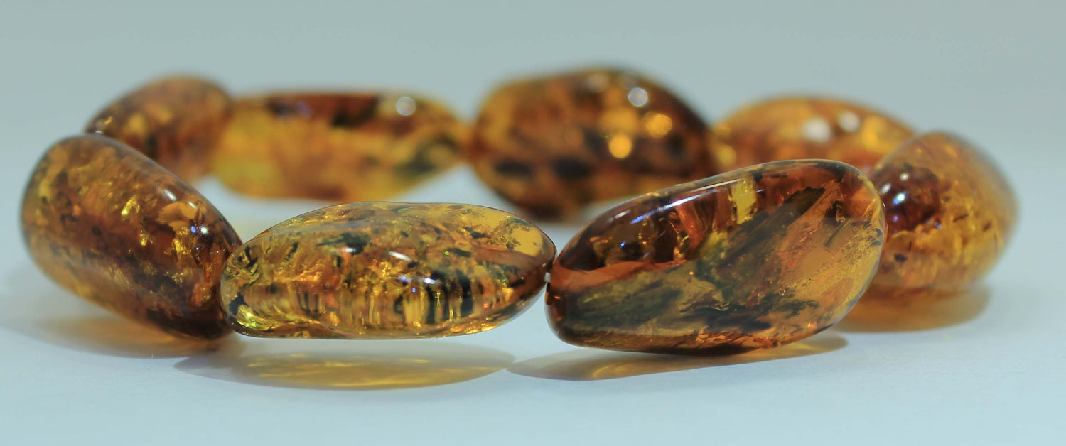 Gorgeous Natural Baltic Amber Large Stone Bracelet