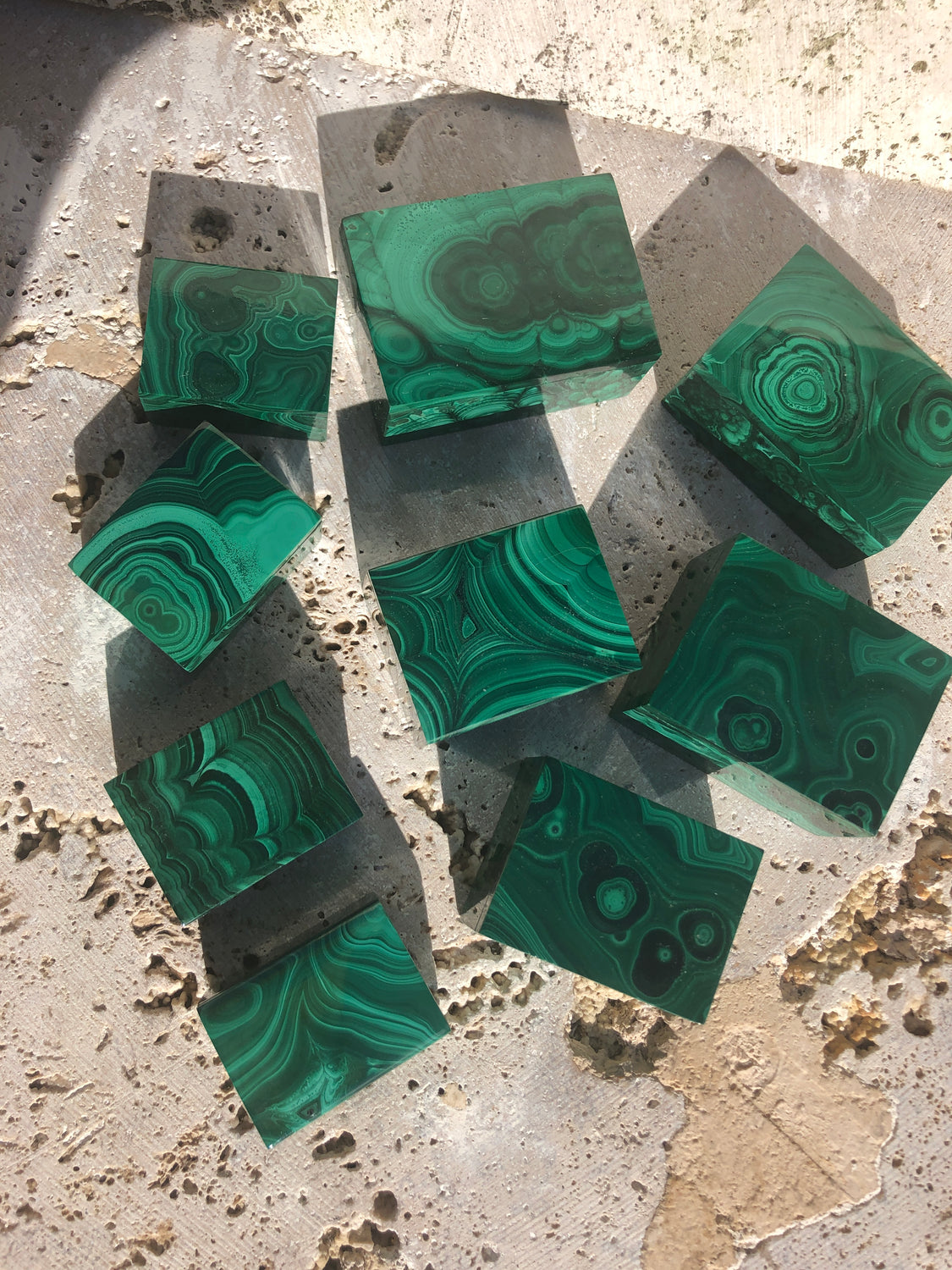 Malachite Gift Boxes  from Rebublic of Congo, Africa