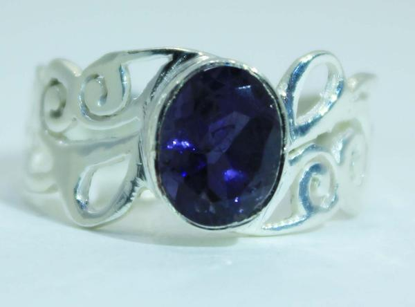 Sterling Silver Spiral  Scroll ring - Available in 5 Stones