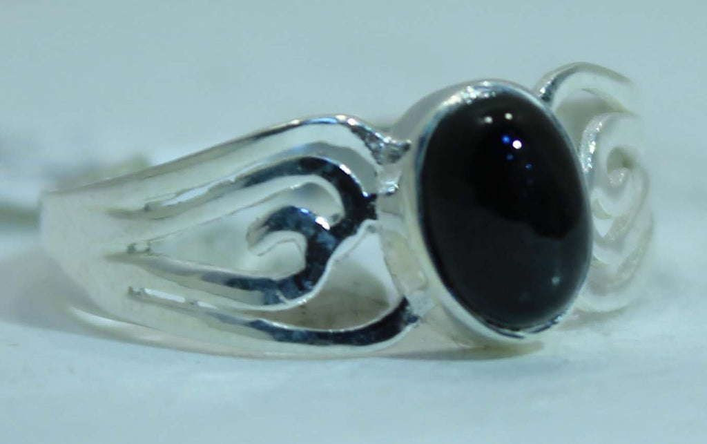 Sterling Silver Black Star Diopside rings
