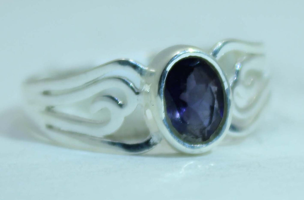 Sterling Silver Cut Out Band Rings- Available in 16 Stones