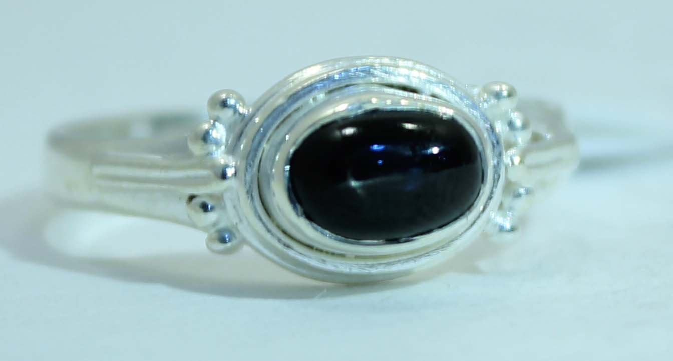 Sterling Silver Ring - Stone Horizontal Setting -Available in 13 Stones