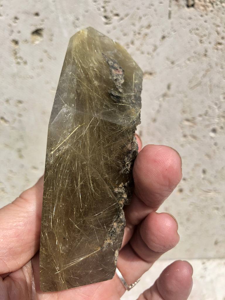 Rare Exceptional Quality Rutilated Clear Quartz Polished Freeforms