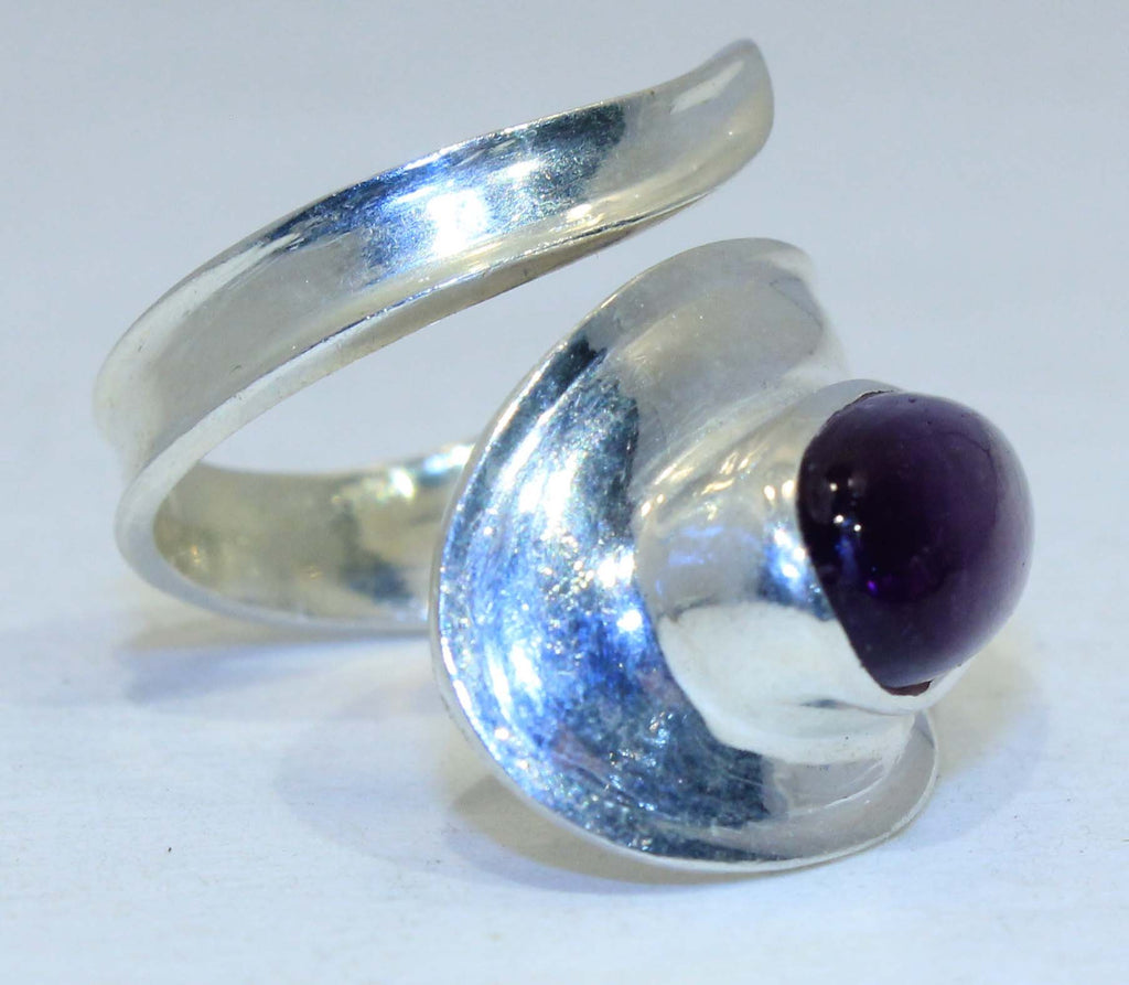 Sterling Silver Wrap ring - Available in 9 Stones