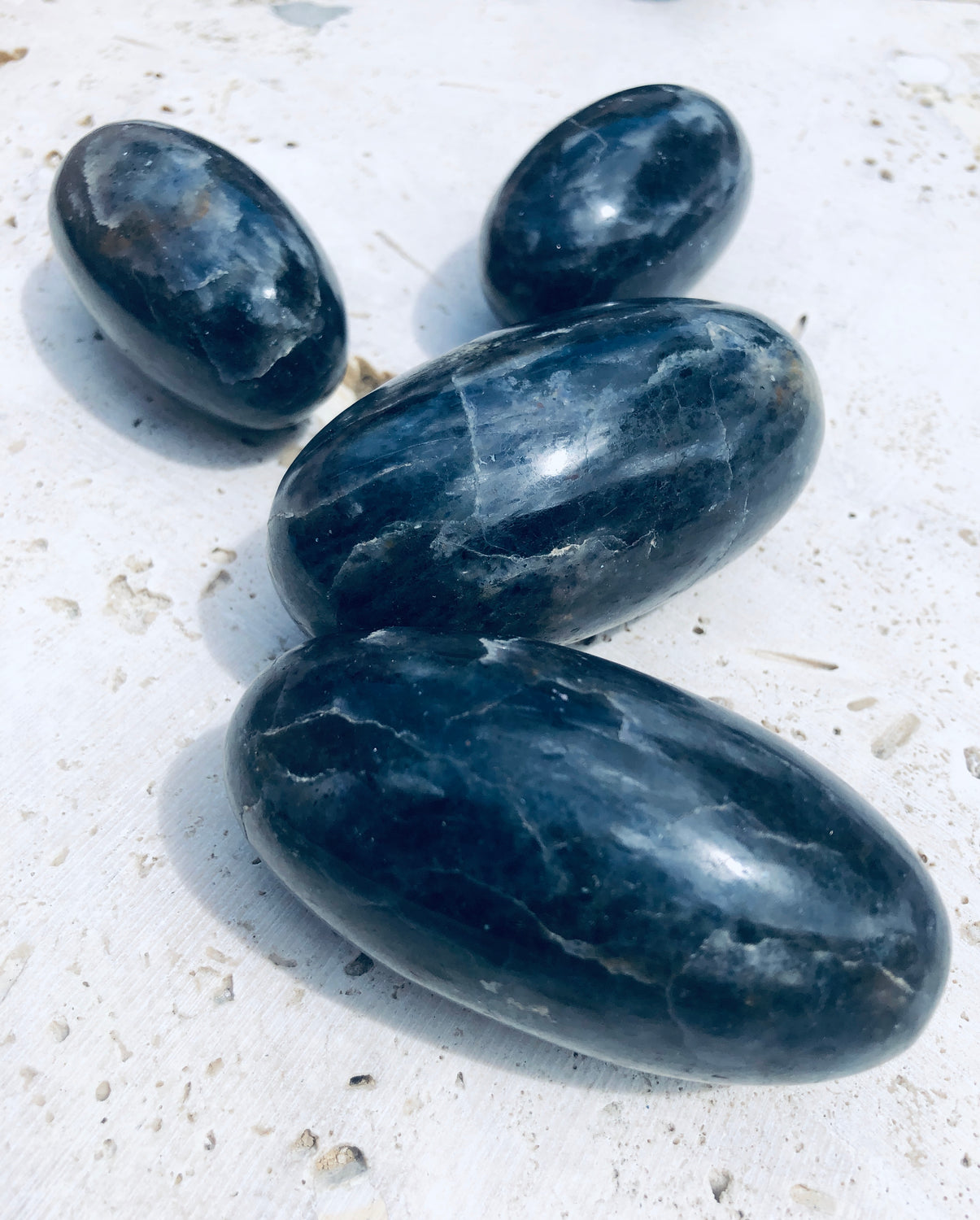 Large Iolite Linghams from India