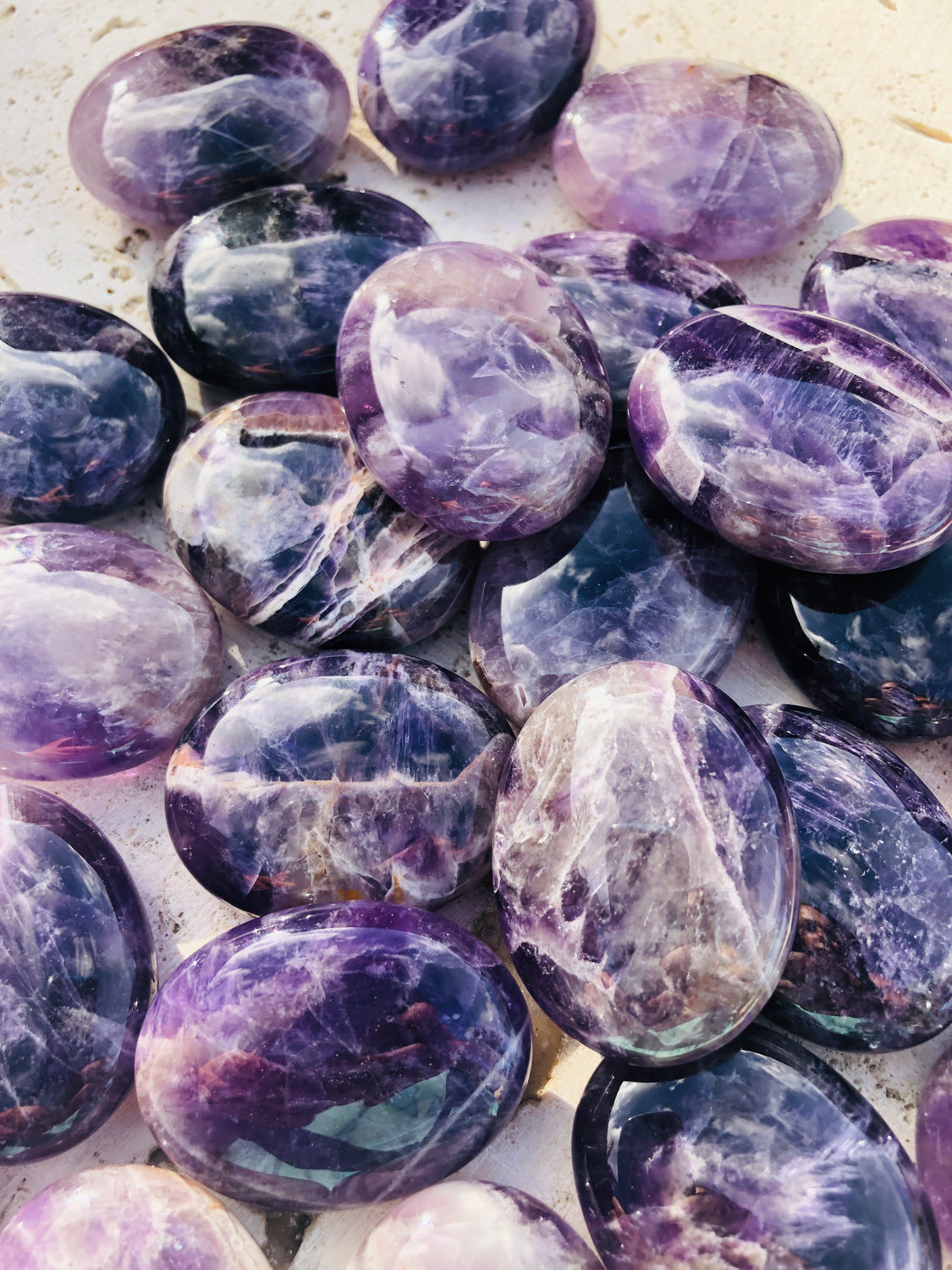 Chevron Amethyst Pillows from Brazil