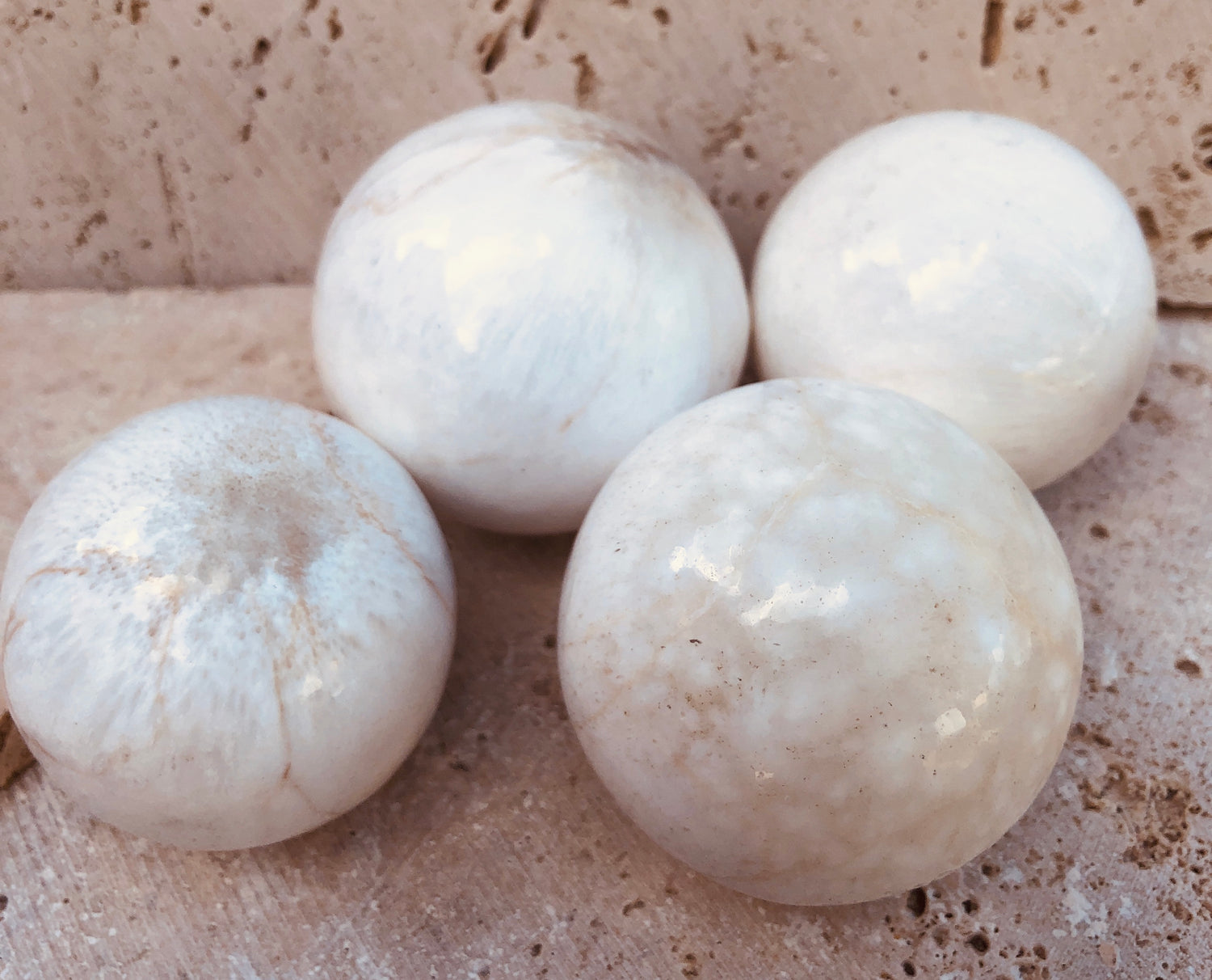 Scolecite Spheres from India