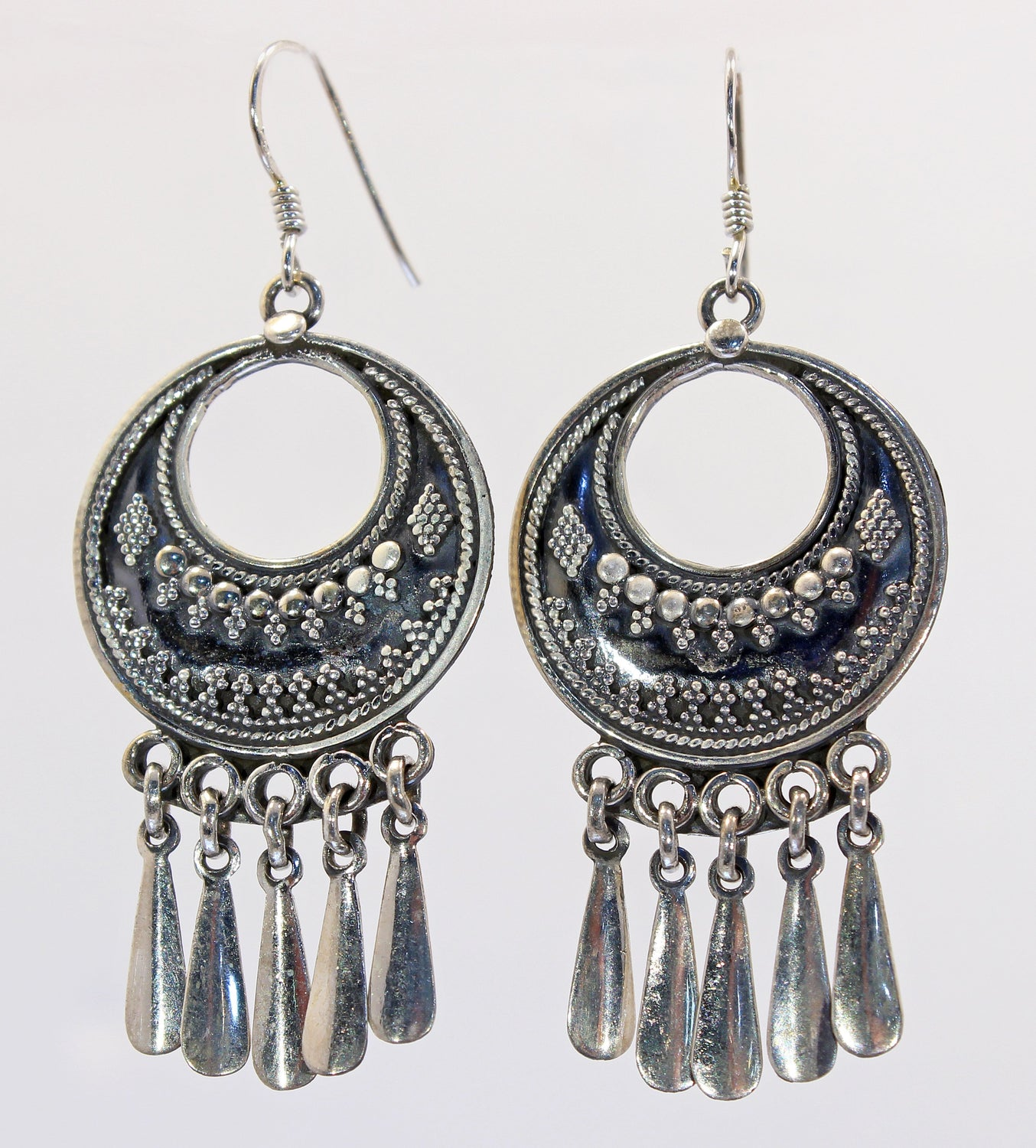 Handmade Sterling Silver Tribal Rajastani Earrings