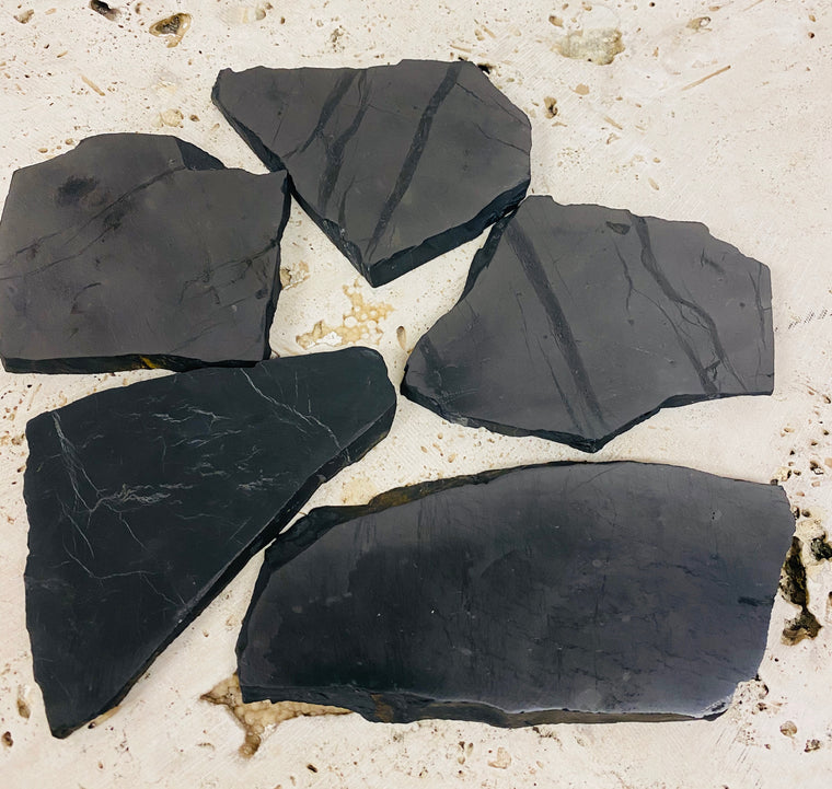 Shungite Slabs Irregular Shape