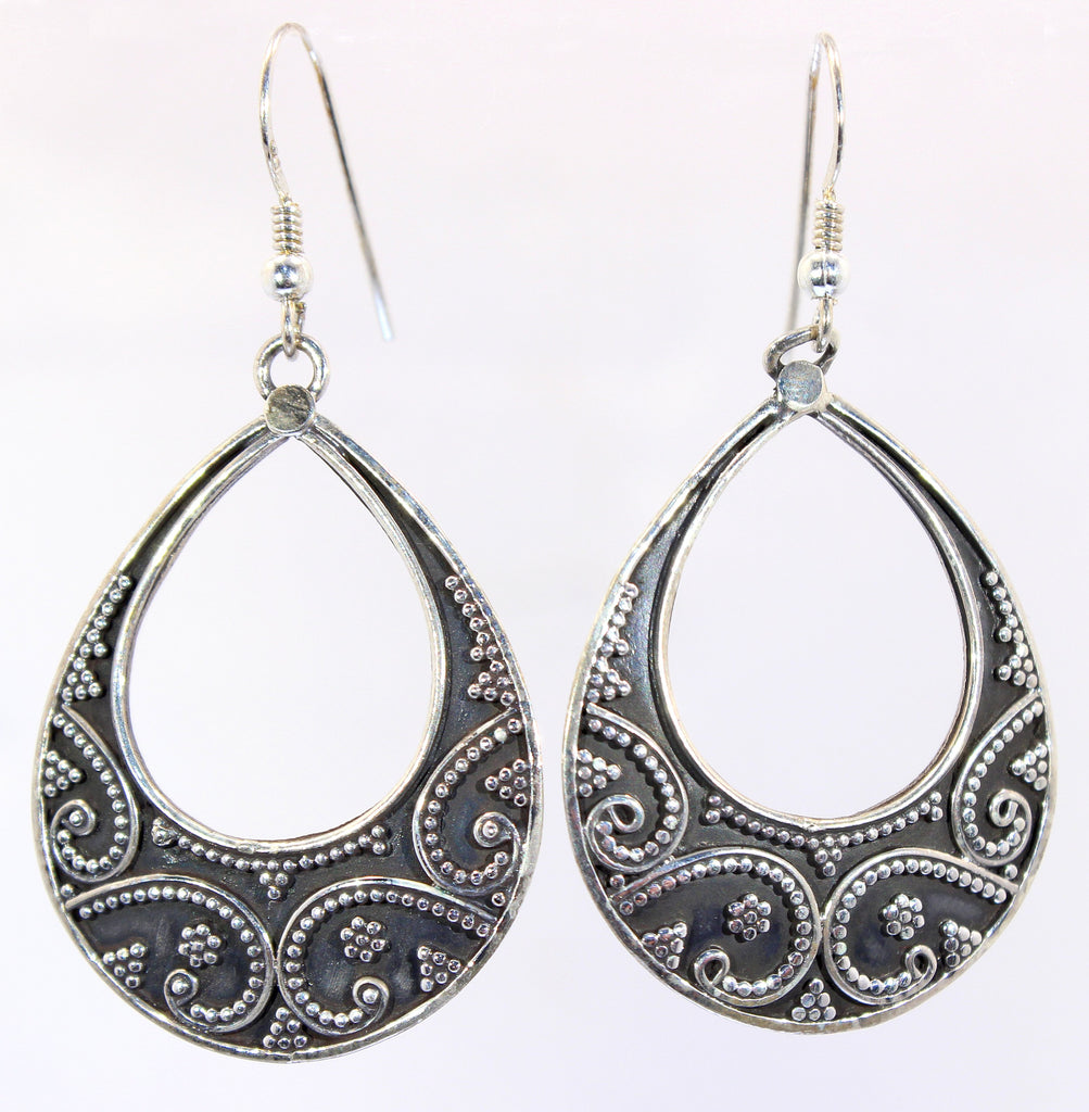 Sterling Silver Rajastani Tribal Earrings