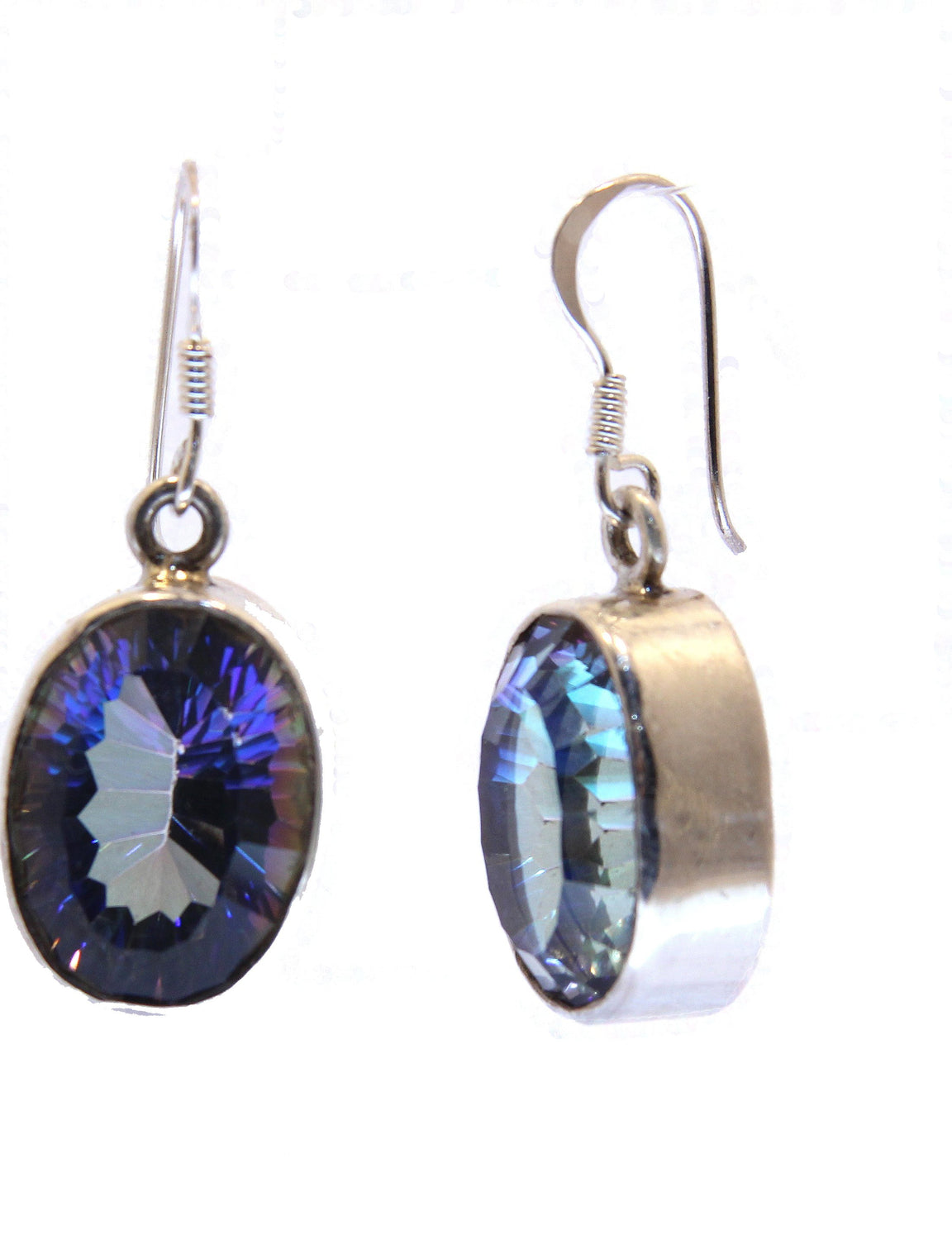 earrings set jewelry topaz mystic silver christmas