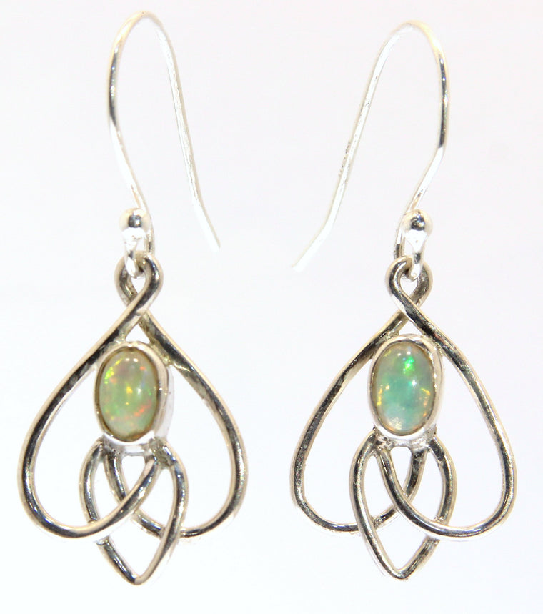 Beautiful Sterling Silver Celtic Knot Earrings - Available in 2 Stones