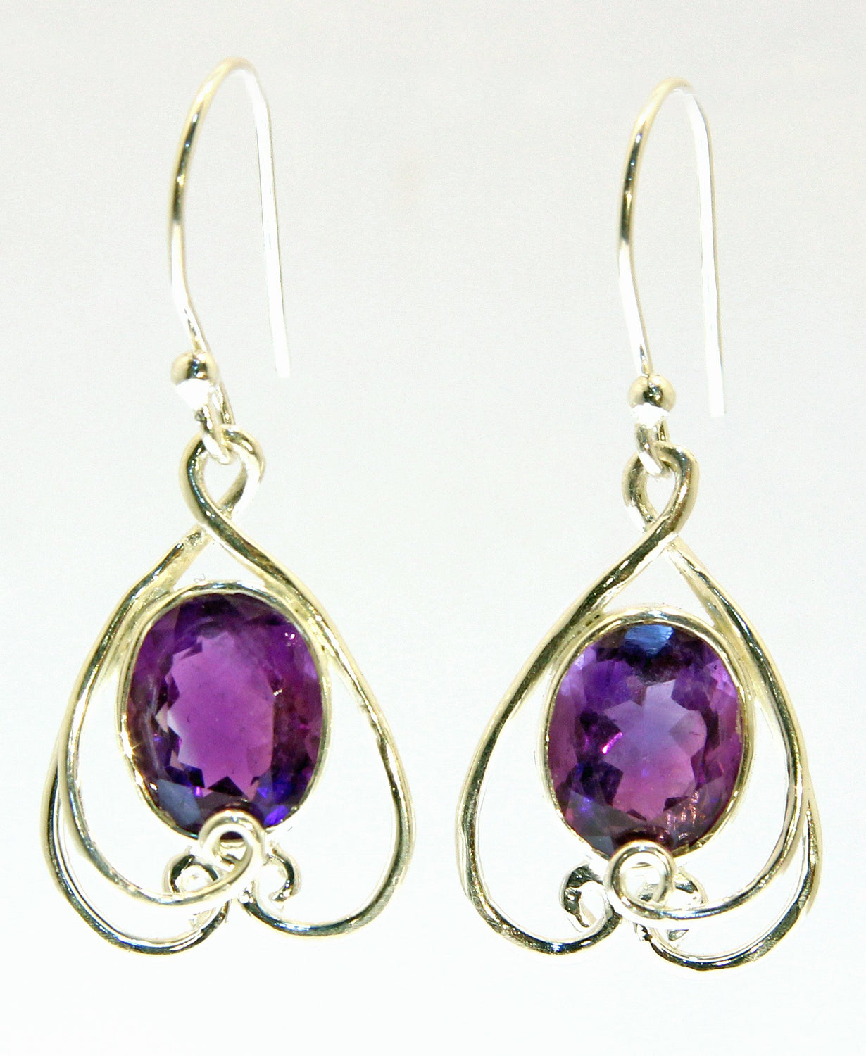 Sterling Silver Amethyst Earrings - Available in 2 Stones