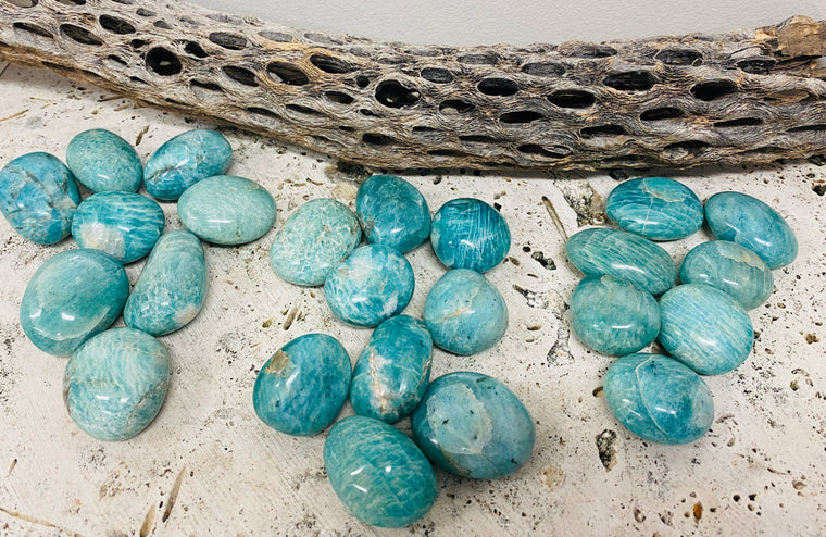Large Amazonite Pebbles Gallets - Available in 3 Sizes