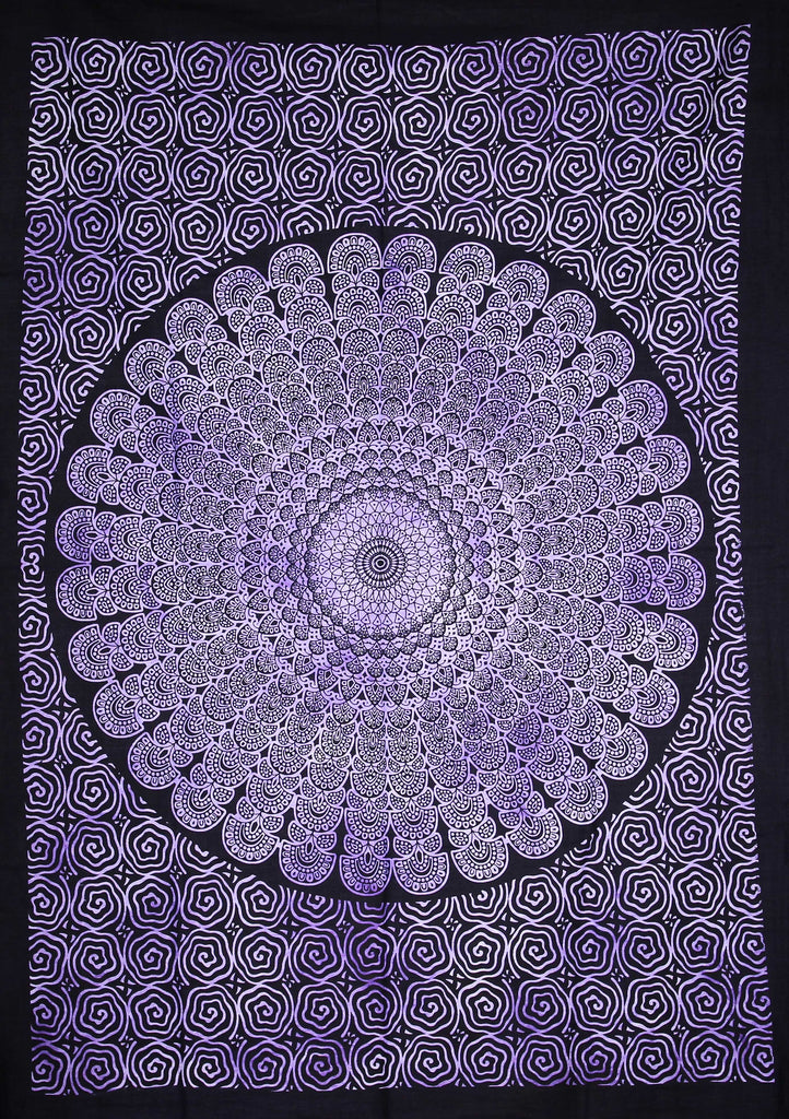 Hand printed Mini Mandala Tapestries Wall Hanging