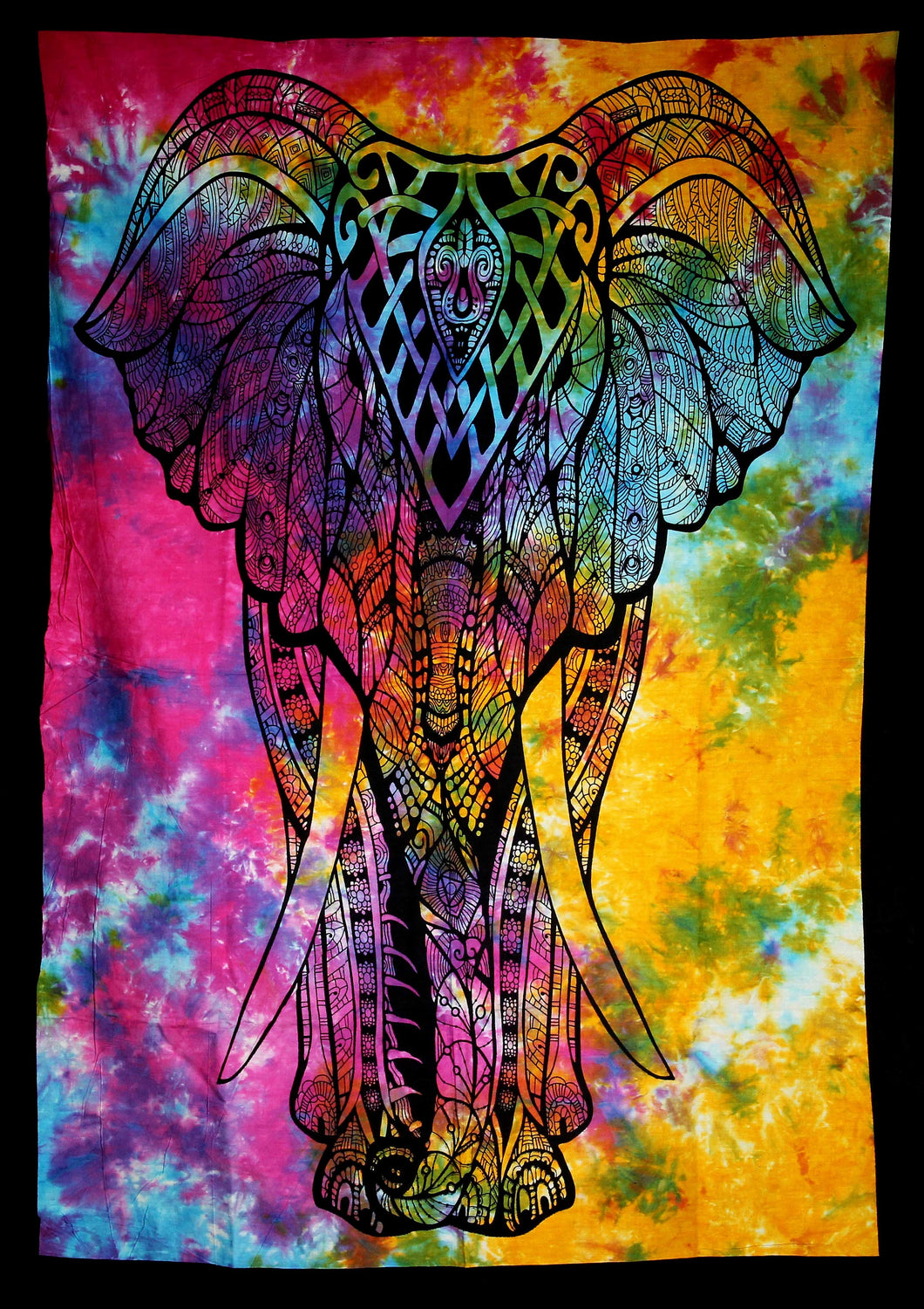 Hand printed Fabric Posters Mini Elephant Tapestries Wall Hangings - Available in 5 Colors