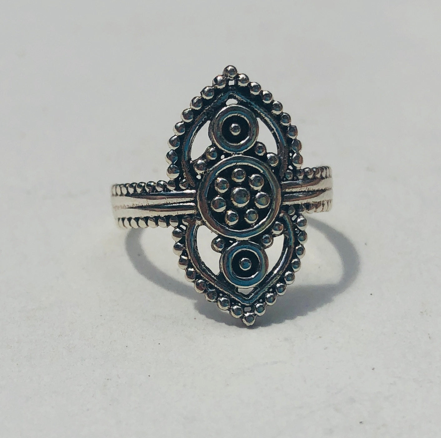 Sterling Silver Rajasthani  Ring from India