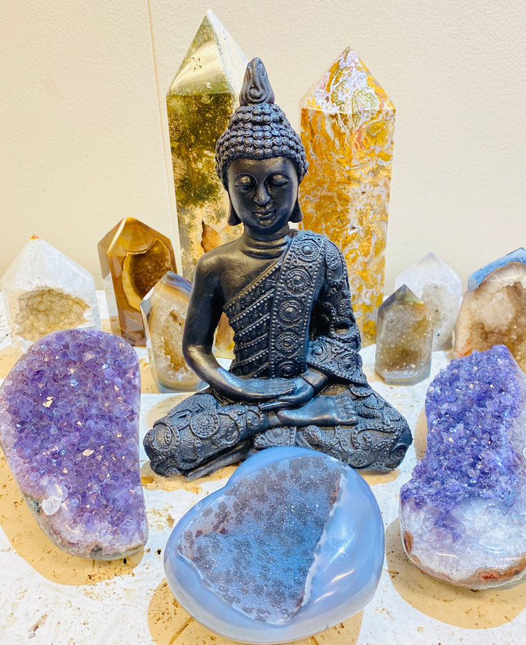 Large Shungite Meditating Buddha - 9