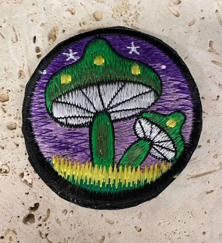 Handmade  Embroidered Mushroom Patches from Nepal 3