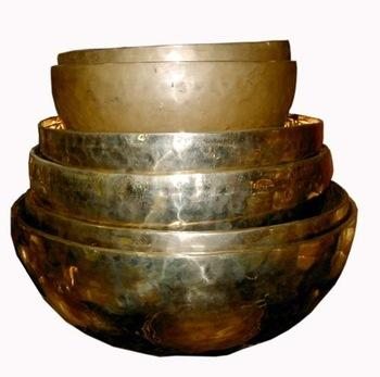 Seven Metal Indian Singing Bowls