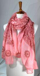 Light Weight Cotton Gauzey Prayer Scarves w Mantras 6 Colors
