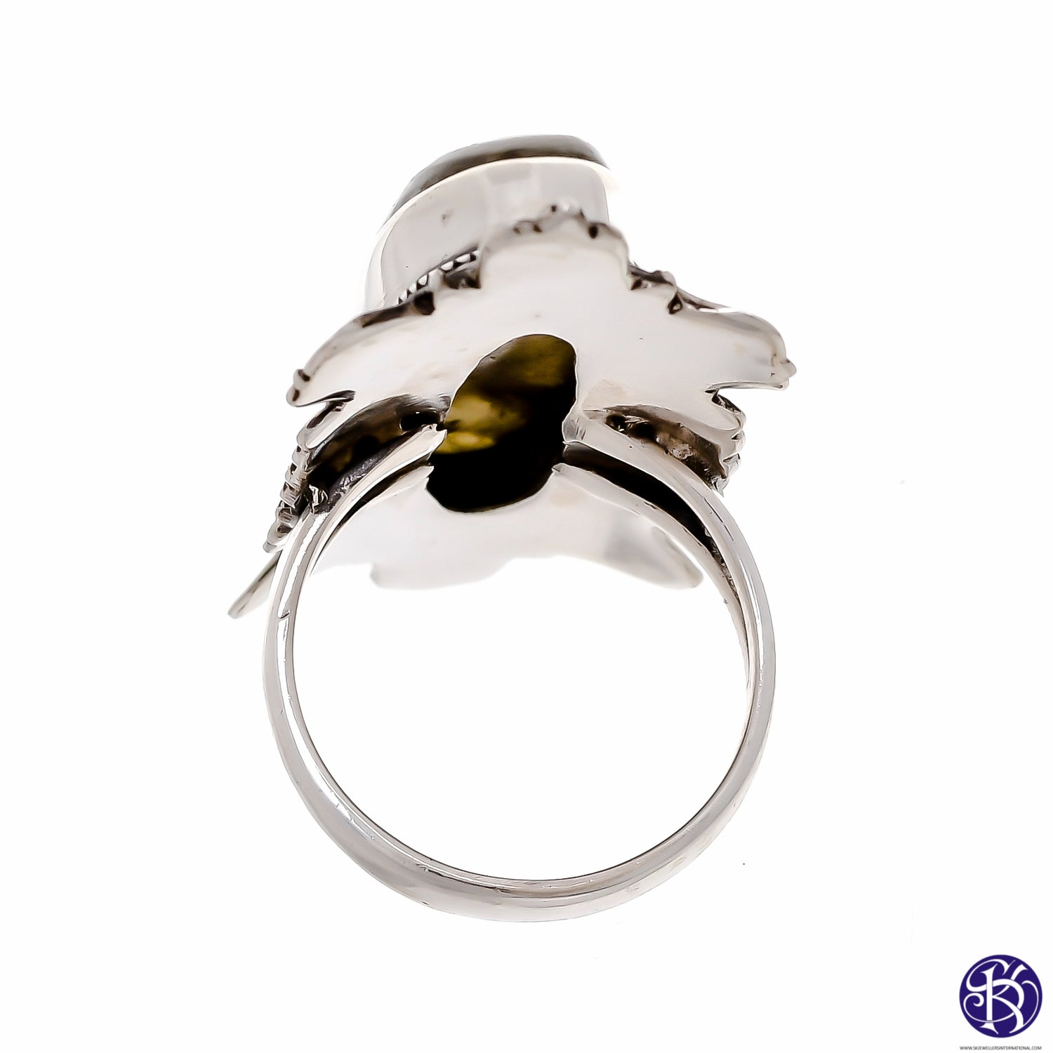 Sterling Silver Large Stone Ring - Available in 8 Stones
