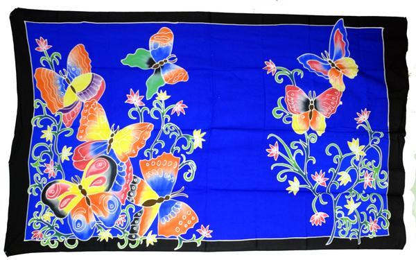 Hand Batiked Butterfly Sarongs