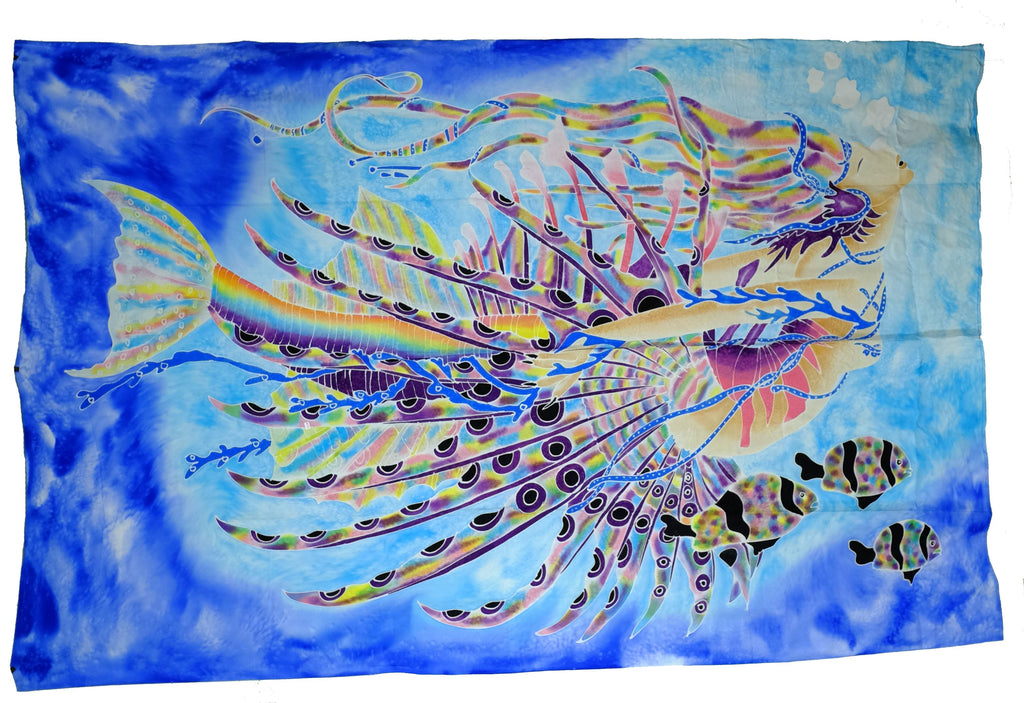 Hand Batiked Lion Fish Mermaid Sarongs