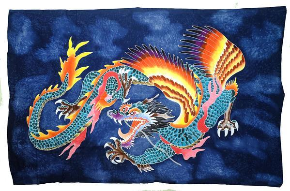 Hand Batiked Dragon Sarongs